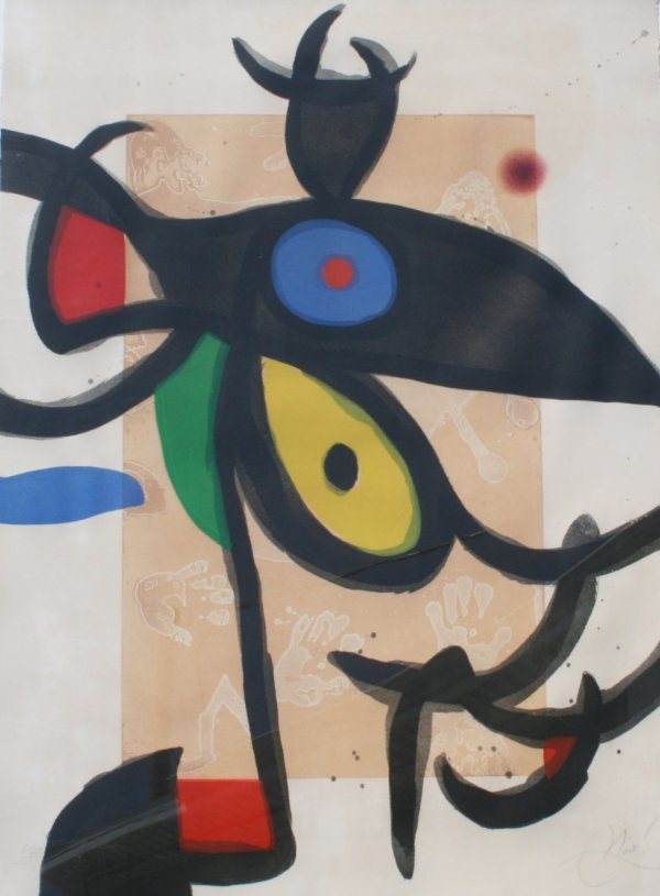 35: IMPORTANT LARGE MIRO ETCHING