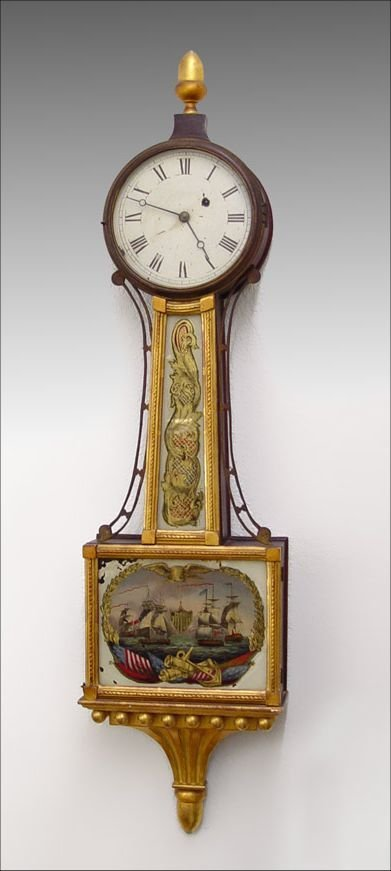16: WILLARD ERA PERRY'S VICTORY BANJO  CLOCK