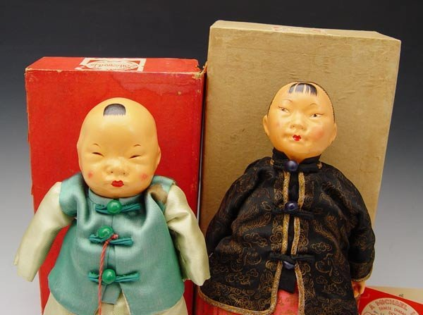 230: 2 MICHAEL LEE MICALE CHINESE DOLLS 1950'S  - 2