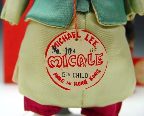 230: 2 MICHAEL LEE MICALE CHINESE DOLLS 1950'S  - 3