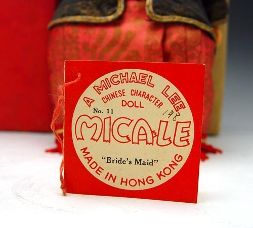 230: 2 MICHAEL LEE MICALE CHINESE DOLLS 1950'S  - 4