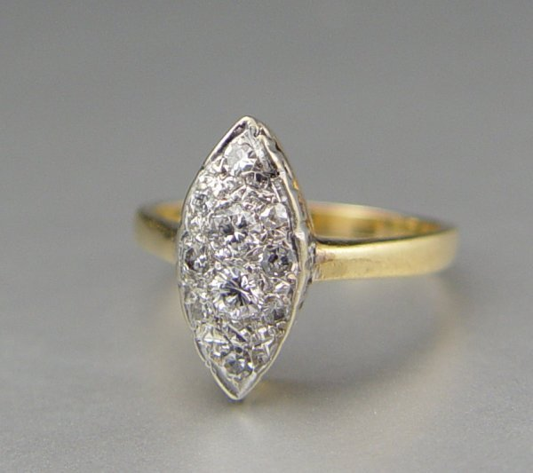 23: EDWARDIAN DIAMOND RING