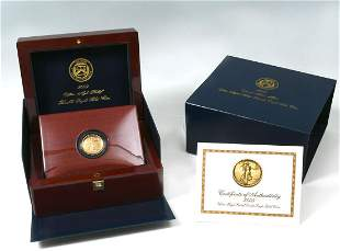 2009 ULTRA HIGH RELIEF $20 DOUBLE EAGLE GOLD COIN
