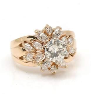 CUSTOM 14K 2.0CTW DIAMOND RING