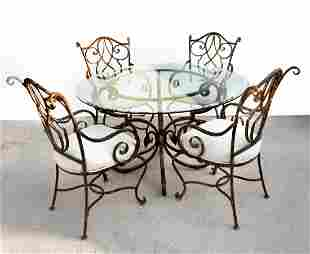 5 PC FORGED STEEL DINING SUITE BY ARISTICA