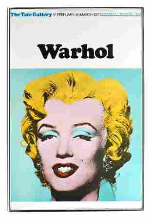 ANDY WARHOL MARILYN POSTER FOR THE TATE GALLERY 1971