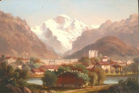 6: MINIATURE PAINTING OF LUCERNE R. MULLER CA 1900