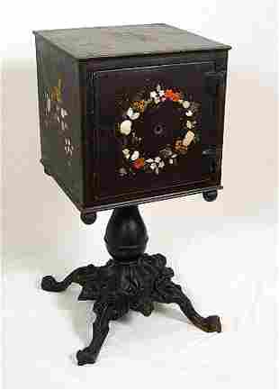 VICTORIAN CAST IRON PERSONAL SAFE