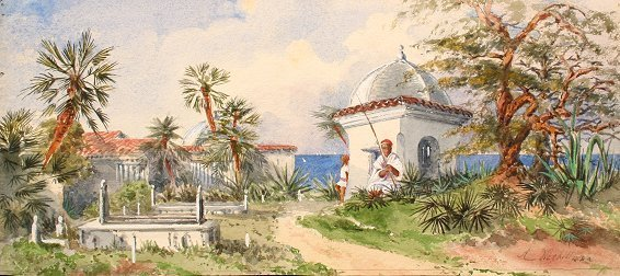 27: ANDREW NICHOLL WATERCOLOR PAINTING CEYLON?