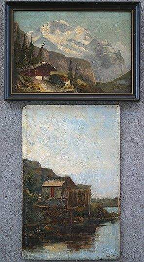 TWO MINIATURE O/B LANDSCAPES GOOD QUALITY