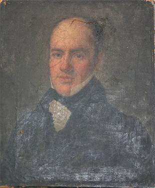 SUPERIOR PAINTING OF A GENTLEMAN BY HECHT 1928
