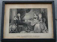 453 THE WASHINGTON FAMILY CURRIER AND IVES LITHOGRAPH