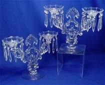 14: PAIR OF CAMBRIDGE ELEGANT GLASS CANDELABRA