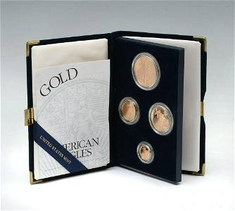 2002 AMERICAN EAGLE GOLD 4- COIN PROOF SET