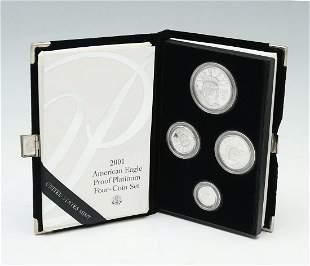 2001 AMERICAN EAGLE PROOF PLATINUM 4- COIN SET