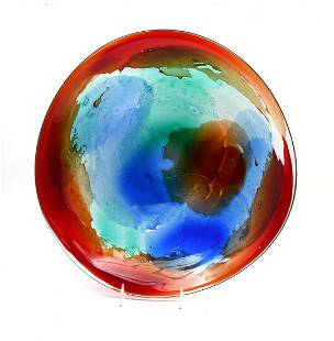 GIULIANO TOSI MURANO ART GLASS CHARGER