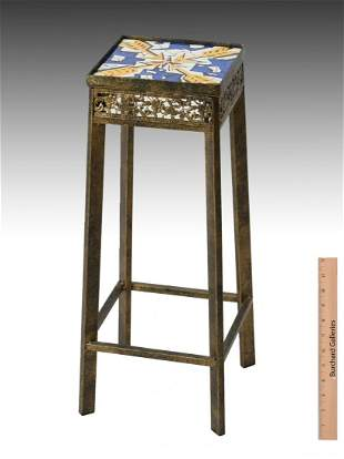 PLANT STAND WITH SALVADOR DALI TILE