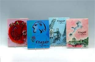 SET OF 4 CHAGALL LITHO BOOKS
