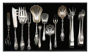 12 PC. ORNATE SILVER COLLECTION