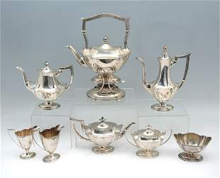 8 PC. GORHAM/BAILEY, BANKS, & BIDDLE STERLING TEA