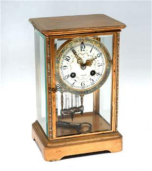 GILT FRENCH CLOISONNE CLOCK