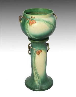 ROSEVILLE JARDINIERE AND PEDESTAL