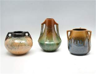 3 PC. FULPER POTTERY VASES