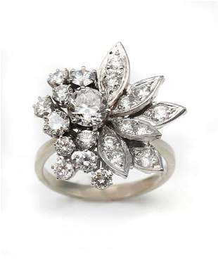 14K 2.50 CTW DIAMOND DINNER RING