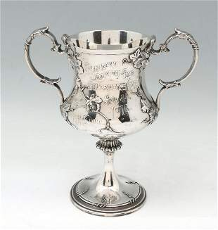 WHITING STERLING TWO HANDLE TROPHY CUP