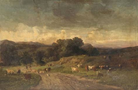 ATMOSPHERIC LANDSCAPE PAINTING BY FELIX VUILLEFROY