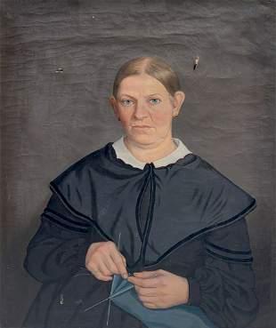 PORTRAIT OF ELIZABETH WARD 1862 BY ALLEN