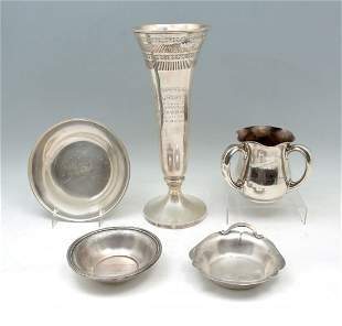 5 PC. STERLING TROPHY COLLECTION