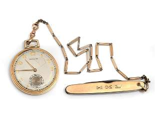 14K WALTHAM OPEN FACE POCKET WATCH