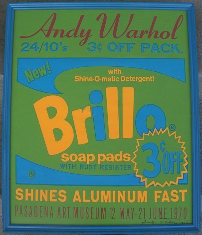 216: ANDY WARHOL BRILLO POSTER SIGNED 1970