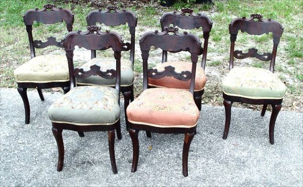 12: SET OF 6 AMERICAN EMPIRE PERIOD DINING CHAIRS