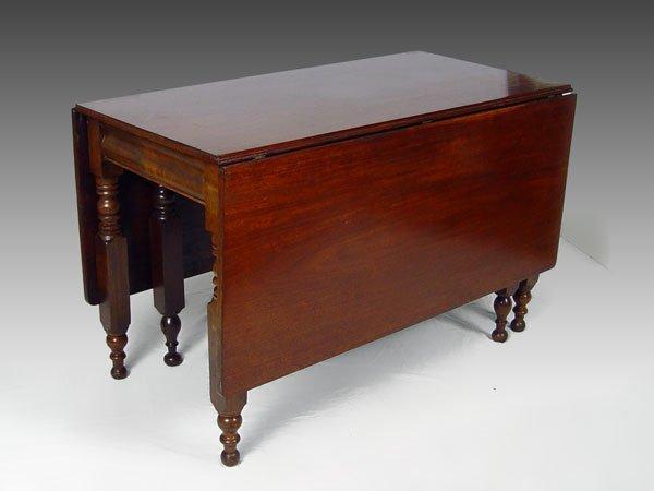 11A: 19th C MAHOGANY DROP LEAF TABLE