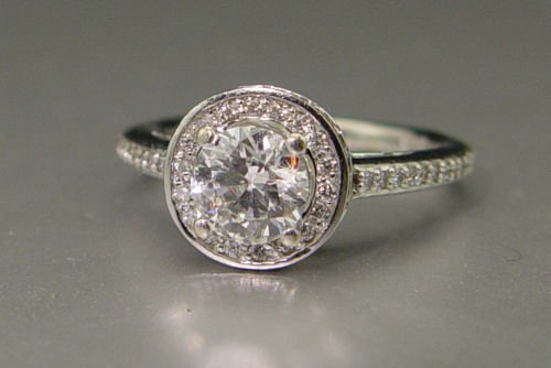 5: 1 CT ROUND BRILLIANT DIAMOND 14k RING SZ 7 NR
