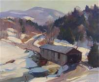 151 EMILE GRUPPE COVERED BRIDGE IN VERMONT PAINTING