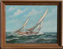 259: ALFRED GABALI YACHT RACE PAINTING
