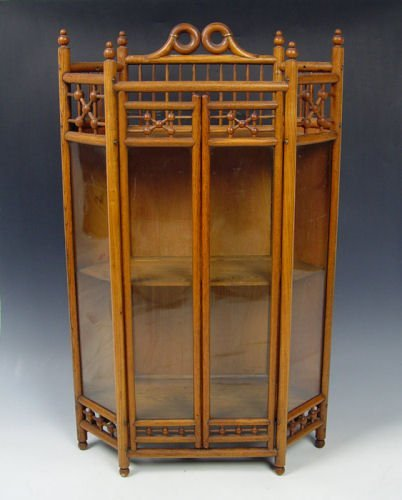 8: VICTORIAN STICK AND BALL HANGING CUPBOARD