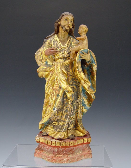 3: ITALIAN GOLD GILT JOSEPH AND BABY JESUS