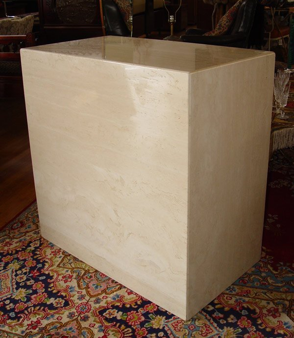 "18: MARBLE RISER / COFFEE TABLE  35"" square"