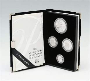 2002 AMERICAN EAGLE PROOF PLATINUM 4- COIN SET