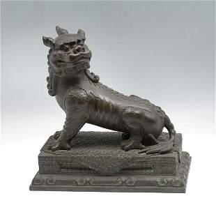 JAPANESE BRONZE FOO LION/FOO DOG