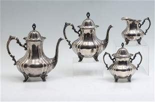 4 PC. POOLE STERLING SILVER TEA SET