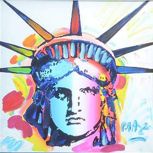 "PETER MAX MIXED MEDIA ""LIBERTY VII"""