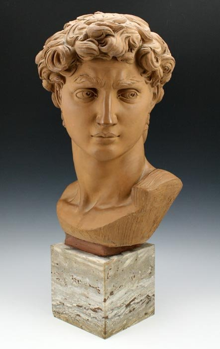8: NEOCLASSICAL STYLE SCULPTURE BUST TERRACOTTA