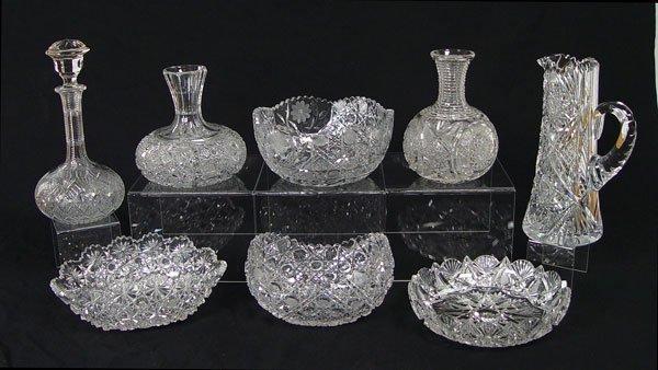 12:  8 PIECE BRILLIANT CUT GLASS