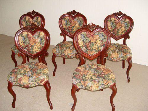 5 Kimball Victorian Style Sweetheart, Kimball Antique Furniture