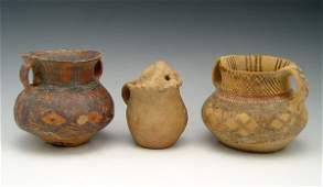 373 3 PC NEOLITHIC CHINESE YANGSHAO POLYCHROME POTTERY